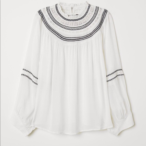 H&M embroidered blouse.